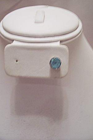 Men's Light Blue Stone Tie Tac