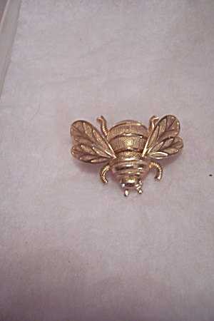 Gold Tone Fly Pin