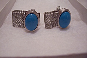 La Rue Fine Jewelry Turquoise Cabachon Cuff Links Set