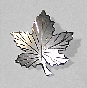Vintage Sterling Silver Leaf Brooch Bond Boyd Co.