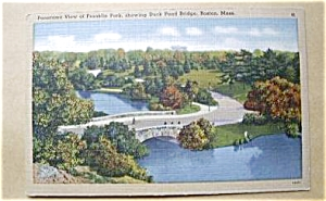 Franklin Park Showing Duck Pond Boston Mass.