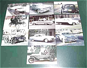 10 Old Car Postcards Post Card