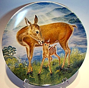 Collector Plate Deer 'a Reassuring Touch' 1985