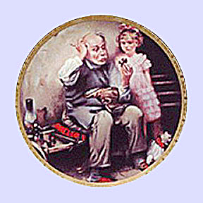 Norman Rockwell Vintage Plate 'the Cobbler' 1978