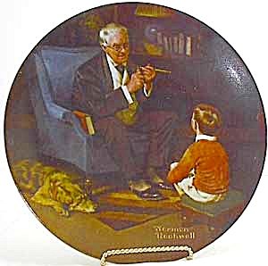 Norman Rockwell Plate 'the Tycoon'