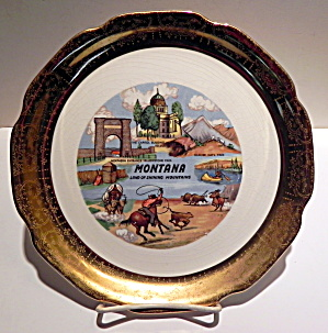 Montana State Vintage Collector Plate