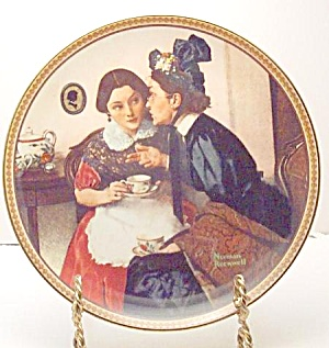 Norman Rockwell Plate 'gossiping In The Alcove'