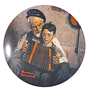 Norman Rockwell Plate 'the Music Maker'