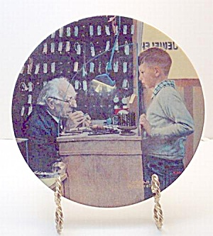 Norman Rockwell Plate 'the Jeweler' 1992