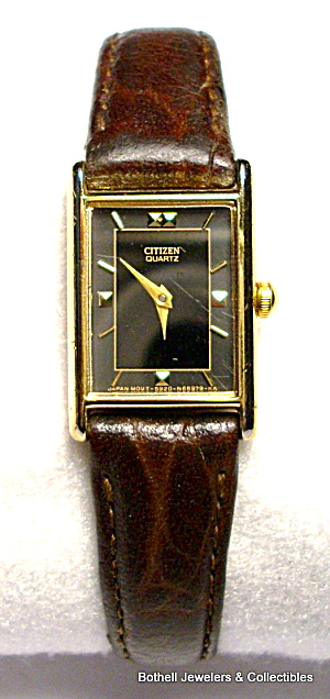Citizen Gold Tone Tank Style Quartz Wristwatch
