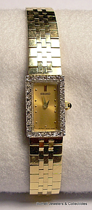 Seiko 14 Karat Yellow Gold Lady's Vintage Wrist Watch