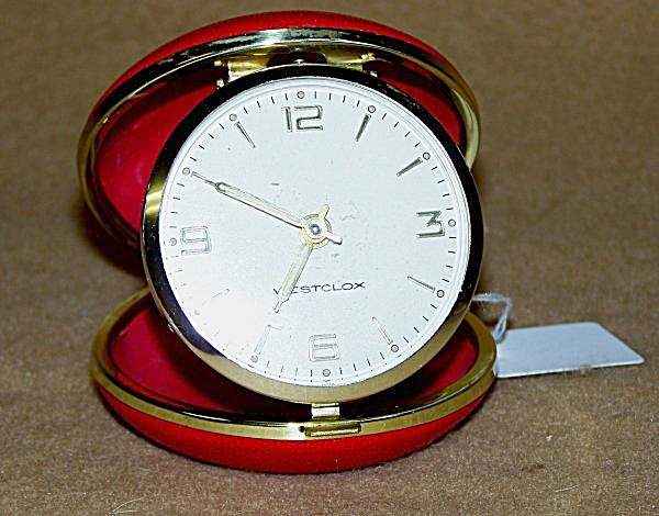 Vintage Westclox Ruby Red Round Face Travel Alarm 2219