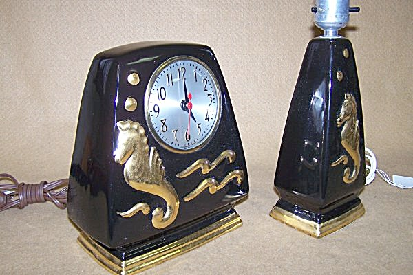 1940's Highly Collectible Sessions Clock/lamp Set