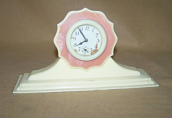 1920's Celluloid Two-tone 30-hour Clock 2381
