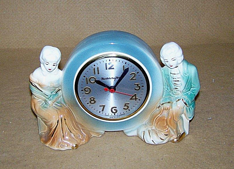 Hand Painted Mastercrafters Figurine W/sessions Clock