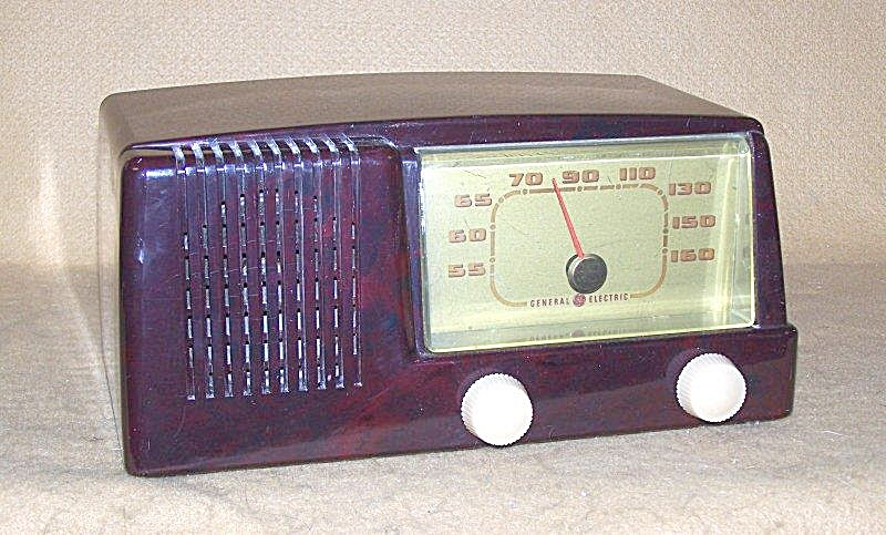 1950 Ge Bakelite Am Tube Type Radio