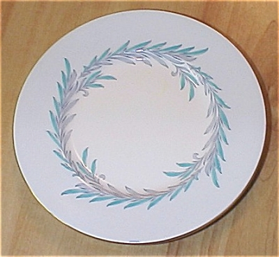 Set Of 2 Minton Mintons Malta Turquoise Blue Bread & Butter Plates