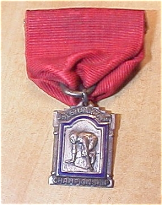 1934 Chester Co. Pa 220 Yard Dash Sterling Silver Track & Field Medal