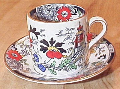 Coalport China Kings Ware Canton Demitasse Cup And Saucer A
