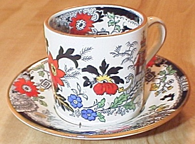 Coalport China Kings Ware Canton Demitasse Cup And Saucer E