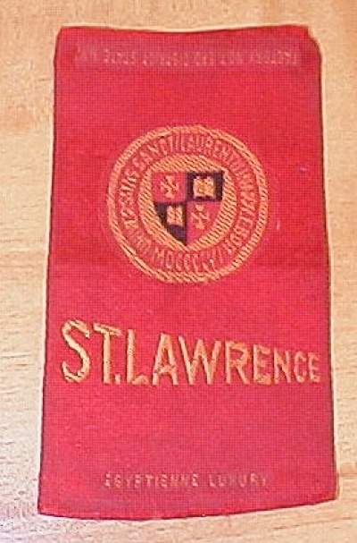 St. Lawrence University Cigarette Silk Egyptienne Luxury Cigarettes