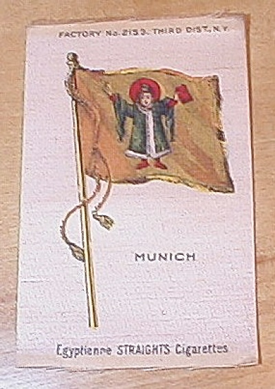 Egyptienne Straights Cigarettes Country & City Flag Cigarette Silks