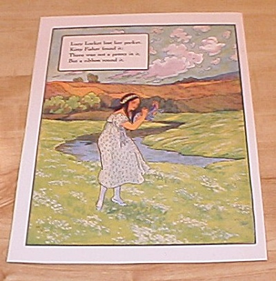 Lucy Locket & Tailors And Snail 1915 Mother Goose Book Print Volland