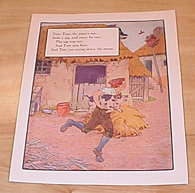 Tom Piper's Son, Little Polly Flinders 1915 Mother Goose Book Print