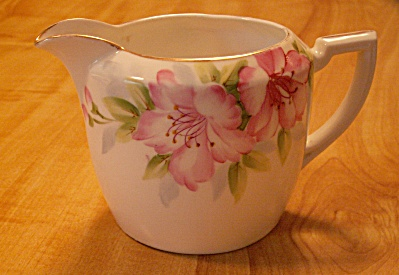 Pretty Antique Nippon China Azalea Creamer, Blue Rising Sun Mark