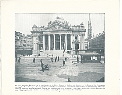The Bourse, Brussels, Belgium, 1892 Shepp's Photographs Book Page
