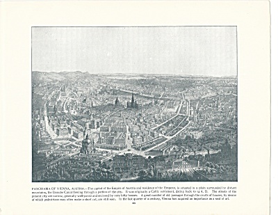 Panorama Of Vienna, Austria 1892 Shepp's Photographs Book Page