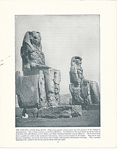 The Colossi, Upper Nile, Egypt 1892 Shepp's Photographs Book Page