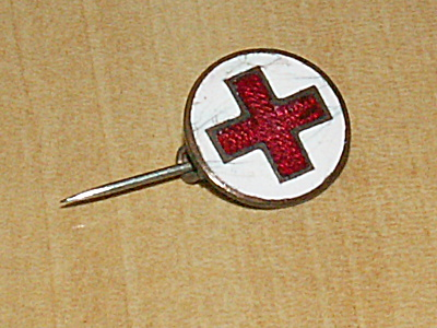 Wwi Era Antique American Red Cross Volunteer Worker Enamel Stick Pin