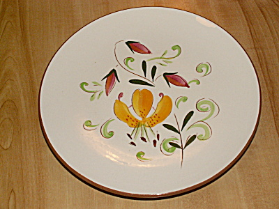 1958 Stangl Pottery Floral Tiger Lily 8 Inch Dessert Plates #3965