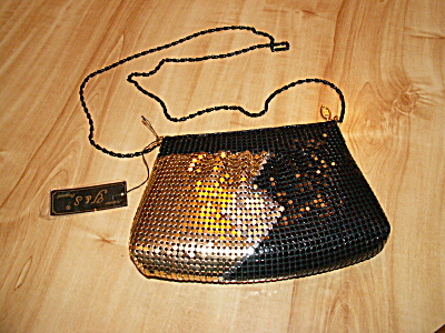 Vintage Y&s Original Mesh Crossbody Hipster Handbag Purse Tri-color