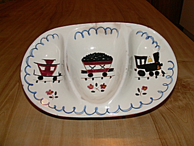 Stangl Pottery Kiddieware Children's Dish Train Mealtime Special
