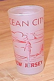 Vintage 1950s/1960s Souvenir Drinking Glass, Ocean City, New Jersey