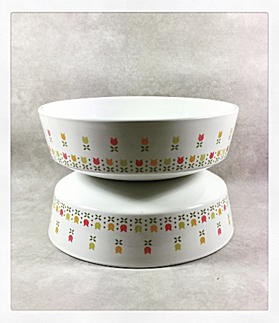 Pair Of Corning Centura Tulip Time Cereal Bowls