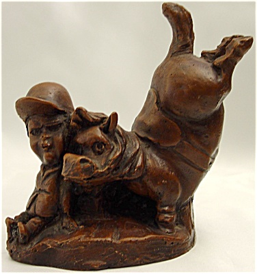Satirical Horse And Jockey Sculpture