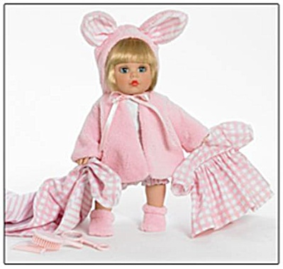 Madame Alexander Sweet Baby Nursery My Little Girl Bunny Hop 14 Inch Doll Set