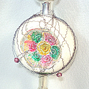 Wire Wrapped Indent Spire Glass Christmas Tree Topper