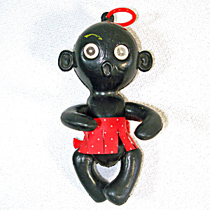 1950s Black Memorabilia Toy African Girl Doll Flicker Eyes