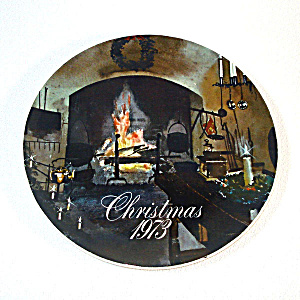 1973 Smuckers Christmas Collector Plate, 2nd In Series