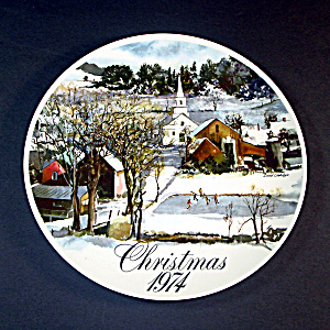1974 Smuckers Christmas Collector Plate, 3nd In Series