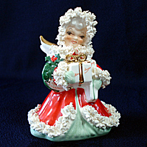 Napco Spaghetti Angel With Gifts Christmas Figurine