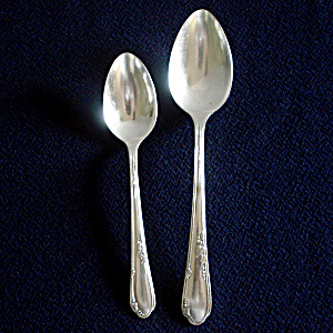 Meadowbrook Rogers Oneida 1936 Silverplate Teaspoon And Tablespoon