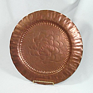 Craftsman Copper Arts And Crafts 12 Inch Charger Plate