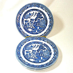 Johnson Brothers Blue Willow Bread Plates Set Of 4
