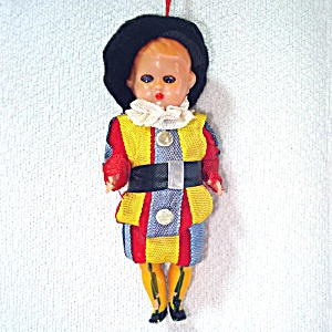 1950s Miniature International Costume Boy Doll Christmas Ornament