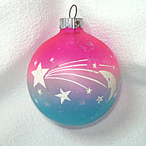 Shiny Brite Unsilvered Stars Moon Planets Christmas Ornament